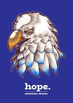 Amerykański orzeł dzień niepodległości weteranów usa