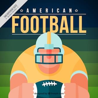 Amerykański Piłkarz Tło W Płaskiej Konstrukcji Darmowych Wektorów