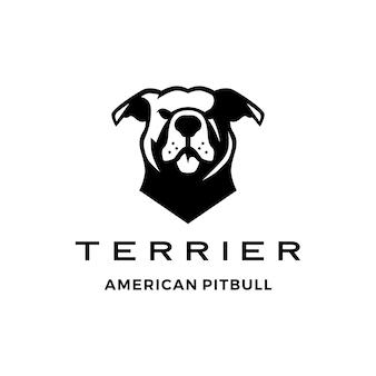 Amerykański pit bull pitbull terrier logo wektor