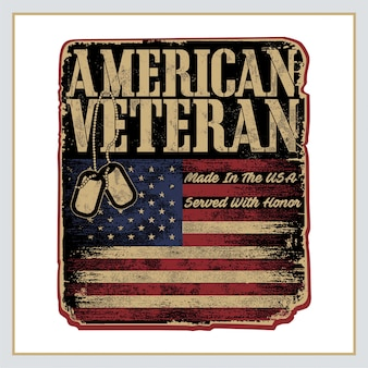 Amerykański plakat retro weterana