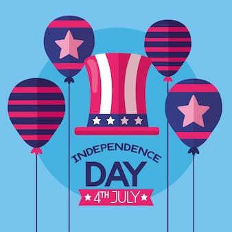 Amerykański szczęśliwy dzień niepodległości