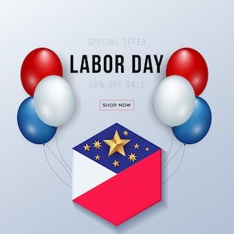 Amerykański sztandar święta pracy