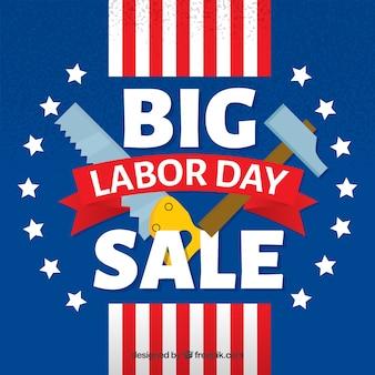 Amerykańskie tło sprzedaży dni pracy z narzędziami