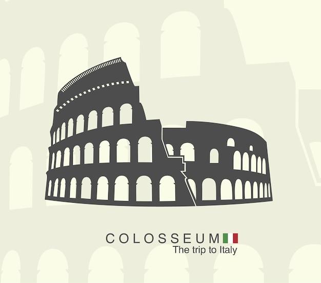 Amfiteatr rzymski koloseum we włoszech.