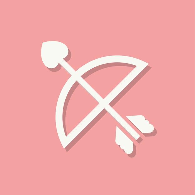 Amorki strzałka ikona walentynki