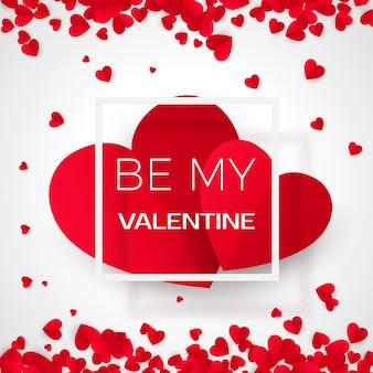 Amour valentine card with message - by my valentine. wakacje 14 lutego. ilustracja