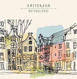 Amsterdam wzór tła