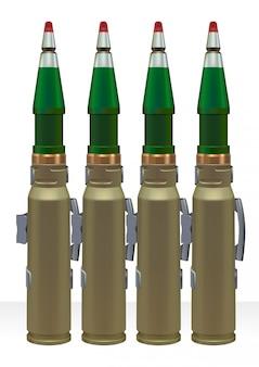 Amunicja dużego kalibru do automatycznego pistoletu.