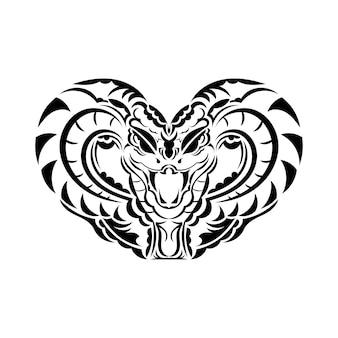 Anakonda wąż ilustracja sztuki na tatuaż, logo, etykietę, znak, plakat, t shirt.