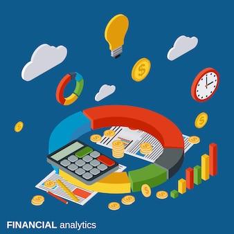 Analityki finansowej ilustracja koncepcja wektor