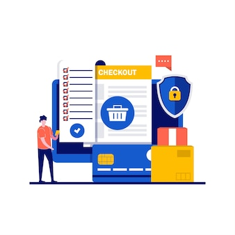 Analiza i statystyki koncepcji usług online z charakterem. rachunek za papier na ekranie komputera.