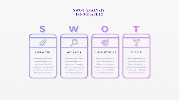 Analiza swot business infographic szablon