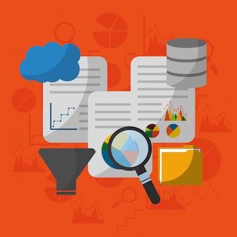 Analiza technologii danych filtr wyszukiwania proces centrum dokumentów chmura