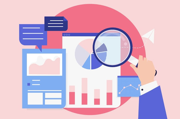 Analiza wydajności biznesowej z wykresami