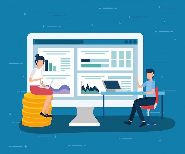 Analizy biznesowe statystyki wektor wzór