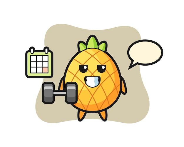 Ananas, ładny styl na koszulkę, naklejkę, element logo