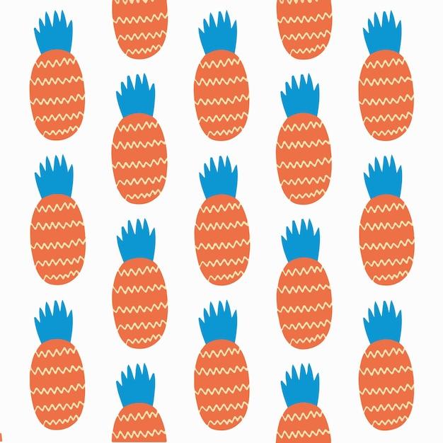 Ananas wzór tło social media post owoce ilustracja wektorowa