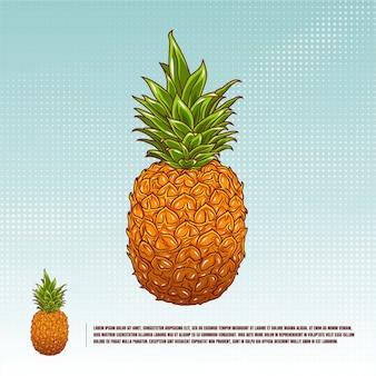 Ananasowa ilustracja