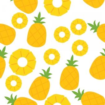 Ananasowy bezszwowy wzór