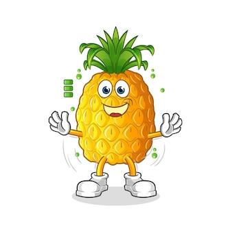 Ananasowy charakter pełnej baterii