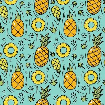 Ananasowy wzór doddle bez szwu
