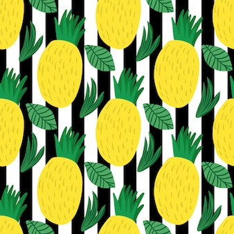 Ananasowy wzór na tle paska