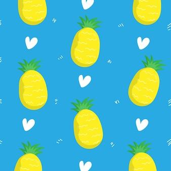 Ananasowy wzór tła