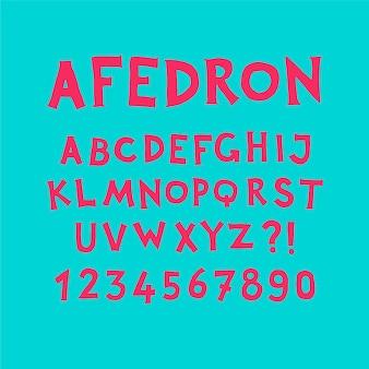 Angielski alfabet.