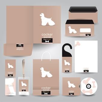 Angielski cocker dog design dla papeterii dla zwierząt domowych