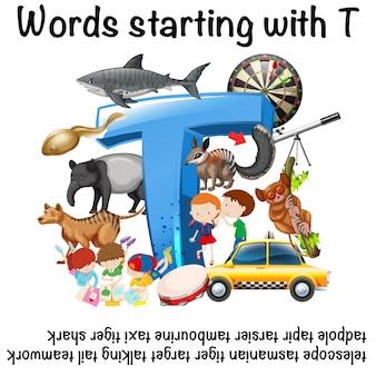 Angielskie słowa zaczynające się na t
