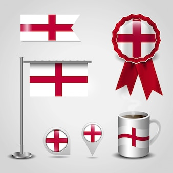 Anglia wielka brytania country flag