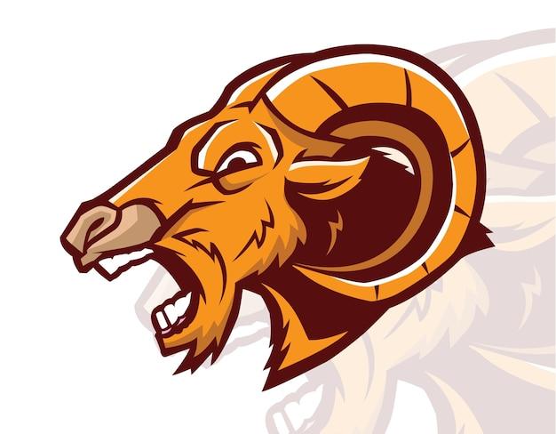 Angry goat mascot