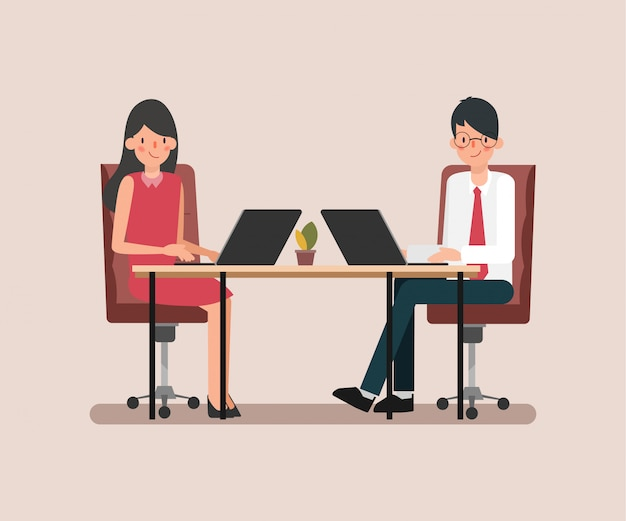 Animaci sceny koledzy ludzie biznesu pracy zespołowej.