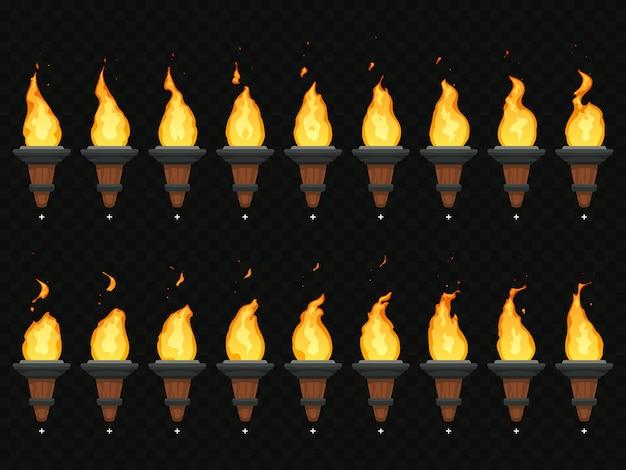 Animacja ognia z pochodnią