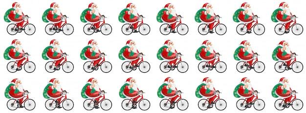 Animacja rowerowa świętego mikołaja