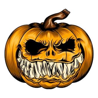 Animacja tatuażu przedstawiająca przerażającą dynie na sezon halloween