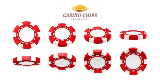 Animacje dla realistycznych żetonów kasynowych