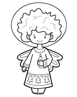 Anioł ilustracja ilustracja do kolorowania