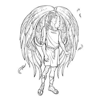 Anioł lub archanioł.