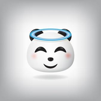 Anioł panda emotikon