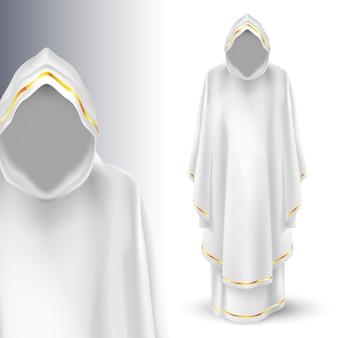 Anioł stróż boga w kolorze białym. bóg. archaniołowie