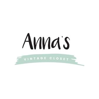Annas vintage closet logo vector