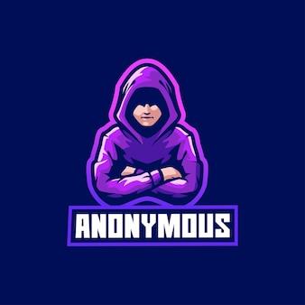 Anonimowy haker włamujący się do internetu