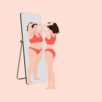 Anoreksja, dysmorfofobia zawstydzająca ciało, nienawiść do samego siebie, niezadowolenie z koncepcji wyglądu.