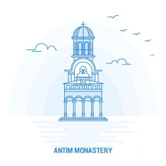 Antim monastery blue landmark