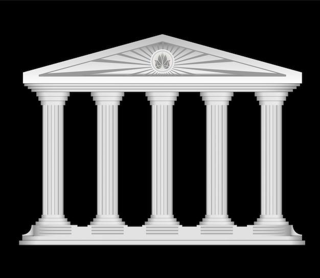Antique roman świątynia stylizowane tło wektor