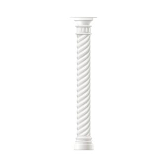 Antyczna marmurowa kolumna lub filar realistyczna ilustracja
