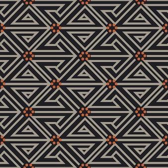 Antyczny wzór geometrii spiralnej linii trójkąta okrągła kropka