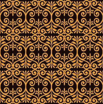 Antyczny wzór prymitywnych spirali aborygeńskich okrągłych liści