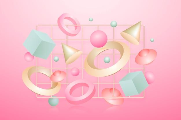 Antygrawitacyjne kształty geometryczne w efekcie 3d